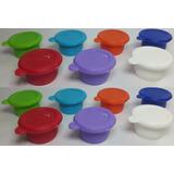 Tapon Plastico X100 Colores Tapa Botella De Vidrio Tomate