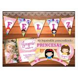 Kit Imprimible Princesas Blancanieves Aurora Cenicienta