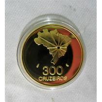 Moeda De 300 Cruzeiros 1972 Ouro [replica]