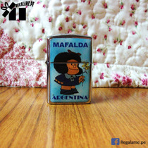 Encendedor Mafalda Recargable / Bencina Artesania Argentina