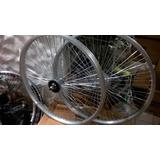 Par De Llantas Multi Rayos 72 Aluminio-contra Pedal-livianas