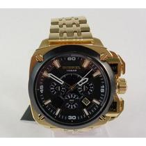 Relógio Masculino Diesel Dz7378 Dourado Original Promocional