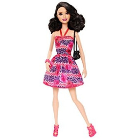 Juguete Barbie Fashionista Raquelle Muñeca, Rosa Y Vestido