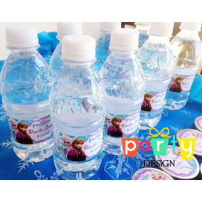 10 Mini Garrafinha Água Mineral Personalizada Frozen