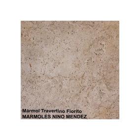 Marmol Travertino Fiorito 10x 10 Directo Del Productor Fabri