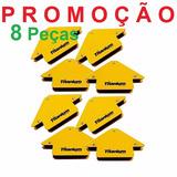 8 Pçs Esquadro Magnético P/ Solda 12kg Titanium Promoção!!!