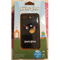 Protector Tpu Cubierta Case Angry Birds Bomb Iphone 4 4s