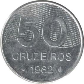 Moeda Brasileira Antiga 50 Cruzeiros 1982/1983/1984/1985