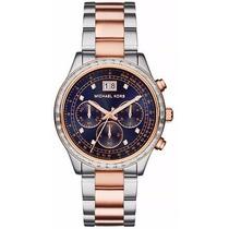 Relógio Michael Kors Mk6205 Prata Rose Original Garantia