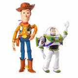 Kit Bonecos Wood 25cm + Buzz Lightyear 13cm. Toy Story 4