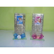 Recuerdos Para Bautizo Cristal Con Placa De Repujado Persona