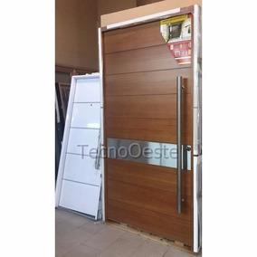 puerta madera pivotante x cm flaminia acero tecnooeste