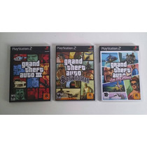 Rép. Gta Vice City, San Andreas E Gta 3 Para Ps2