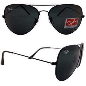 Óculos Rayban Aviador 3025 3026 Preto Feminino Masculino