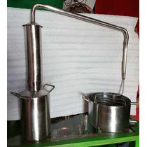 Destilador Y Alambique De Acero Inoxidable De 5 Lts