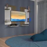 Painel Decorativo Com Suporte Para Tv Lcd/plasma/led,modern