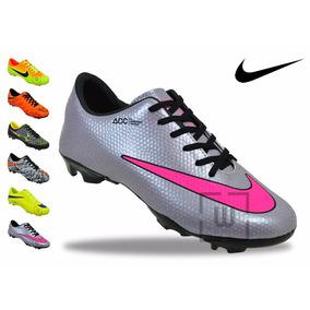 Chuteira Campo Nike Cores Mercurial Fretegratis N3*