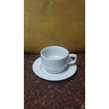 Taza Y Plato Cafe Valencia Porcelanas Victoria 3oz Cema
