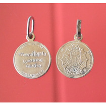 Cadena Y Dije Medalla Plis Virgencita Lupita Guadalupe Plata