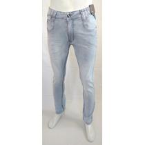 Calça Jeans Masculina Lycra Super Skinny Couro De Ave