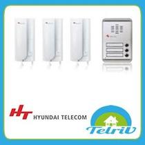 Portero Electrico 3 Departamento Fte Aluminio Hyundai