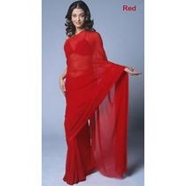 Vestido Sari Seda De La India De 7 Metros