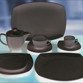 12 platos cuadrados de porcelana juegos de vajilla en for Platos cuadrados de porcelana