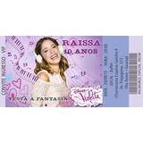 50 Convites Ingresso Vip Violetta