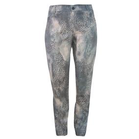 Calca Jeans Skinny Animal Print Rosa - Plus Size