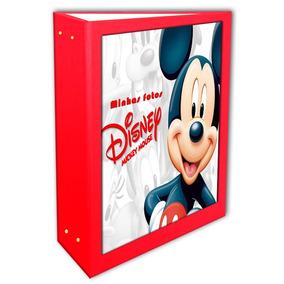 Album Mickey Vermelho 15x21 - 200 Fotos + Brinde Especial