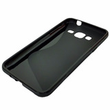 Capa Preta S-type Tpu Samsung Galaxy J3 + Película De Vidro