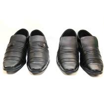 2 Pares Sapato Social Preto Simples Maravilhoso