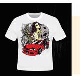 Camiseta Mulheres Desenhadas Sensuais Vida Loka Modernidade