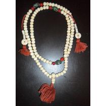 *rosario Tibetano-budista* Hueso De Yak Blanco * Meditación