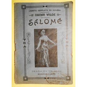 Salome Libreto Antiguo De Oscar Wilde Libreria La Teatral
