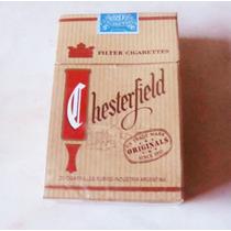 #120 Chesterfield Brown Marquilla Argentina Carton Vacia