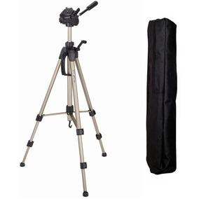 Tripé Alumínio Profissional Universal 1,50m Camera Filmadora