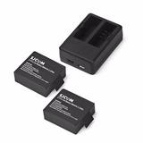 2 Baterías Sjcam + Cargador Doble Sjcam Kit Todo Original