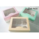 Cajas Para Cupcakes 12 U. Y 6 U. (20 Cajas, 10 Cajas De C/u)