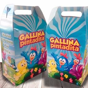 Cajitas Dulceros Personalizados Gallina Pintadita