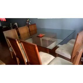 Mesa De Sala De Jantar C/ Oito Cadeiras