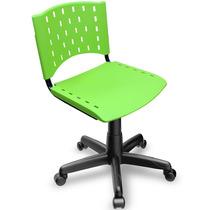 Cadeira Giratória Plástica Secretária Singolare Verde
