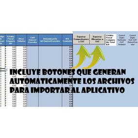 Planilla Importacion Compras Y Ventas Afip Rg 3685