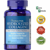 Colageno Hidrolizado Puritans Pride Proteina 180 Tabletas