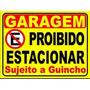 Placa Em Ps 2mm 40 X 50 Cm Proibido Estacionar