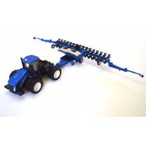 Miniatura Plantadeira Sp 580 + Trator T9.615 New Holand 1/64