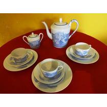 Hermés - Aparelho De Chá E Bolo - Porcelana - Pivoines Bleue