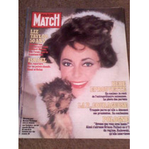 Revista Paris Match En Frances Con Liz Taylor En Portada