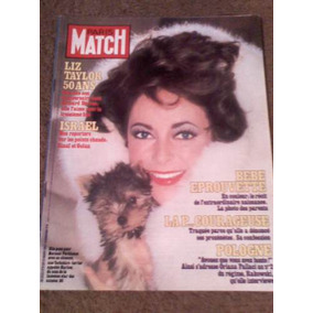 Revista Paris Match En Frances Con Liz Taylor En Portada