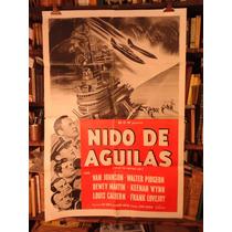 Nido De Aguilas. Afiche Cine Original.